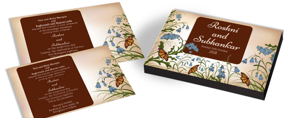 Unique Butterfly Design for Wedding Invitations