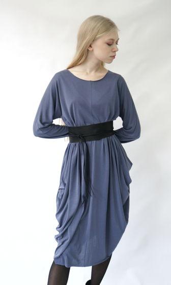 Платье ромб-трансформер   пудровый джинсовый