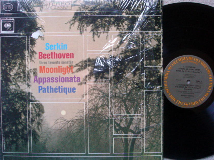 Columbia / RUDOLF SERKIN, - Beethoven Three Favorite Piano Sonatas, EX!