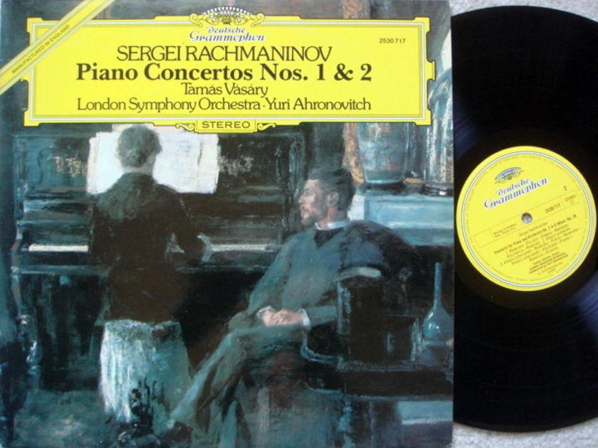 DG / Rachmaninoff Piano Concerto No.1 & 2, - VASARY/AHRONOVITCH/LSO, EX, UK Press!