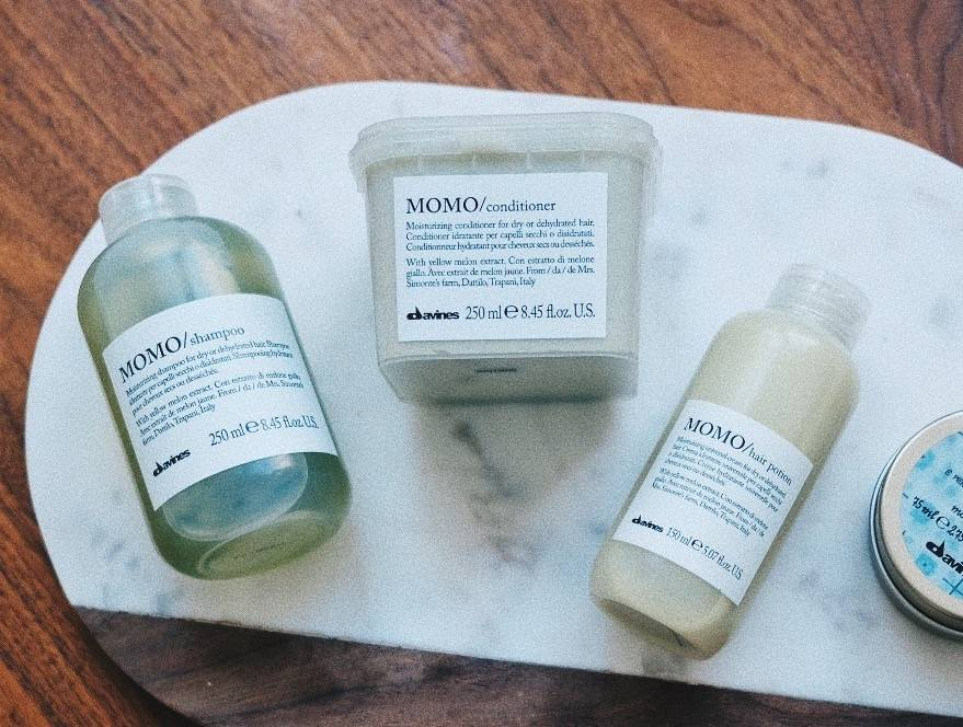 Davines MOMO moisturizing products for dry hair