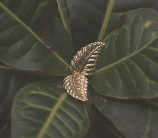 Винтажные клипсы «листочки»