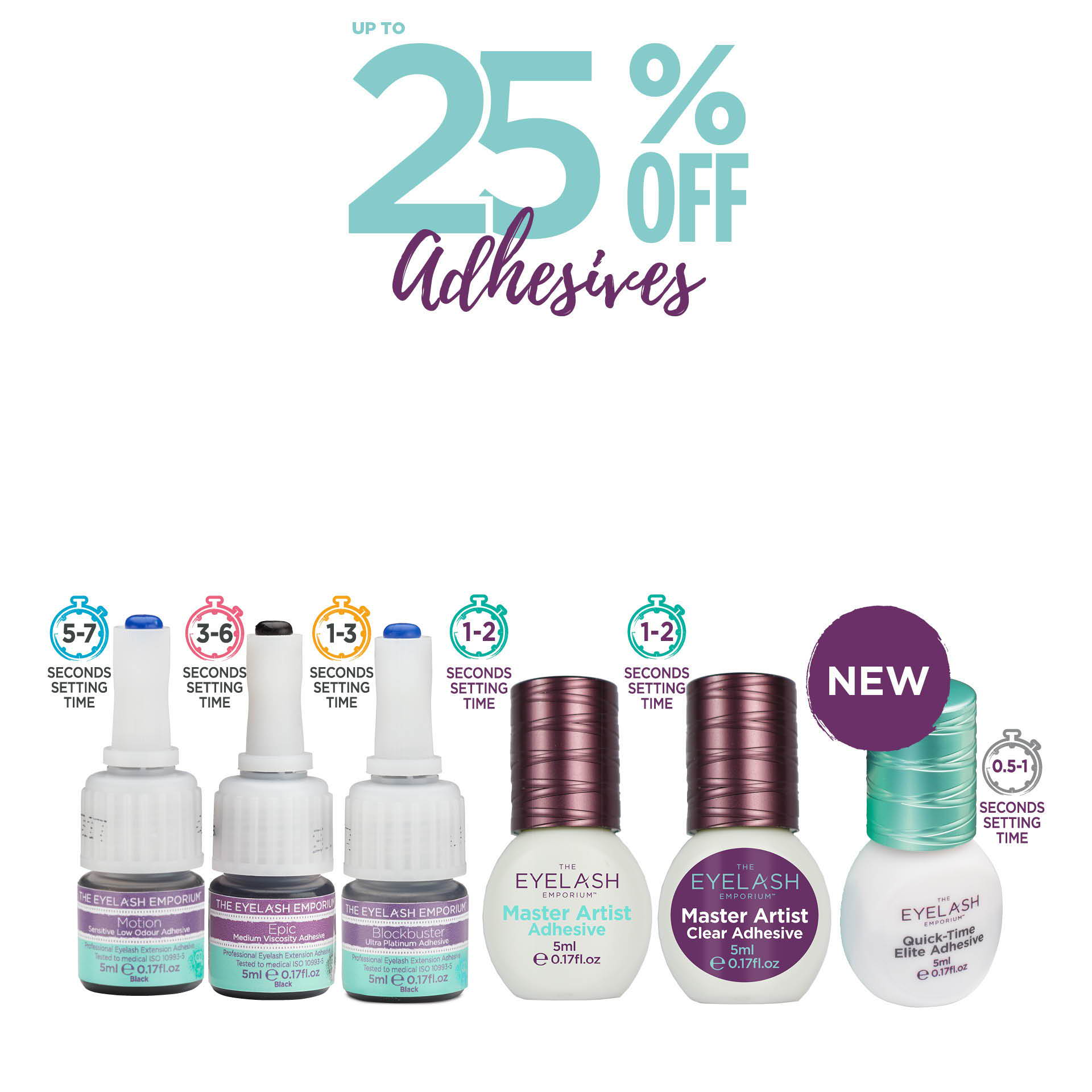Up to 25% off adhesives