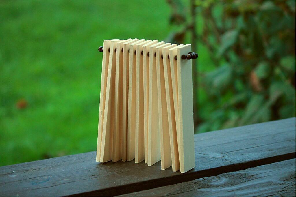 Трещотка деревянная пластинчатая