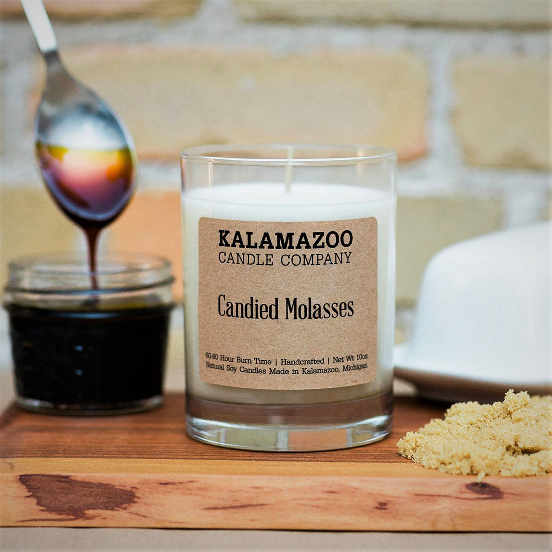 Candied Molasses natural soy wax scented candle
