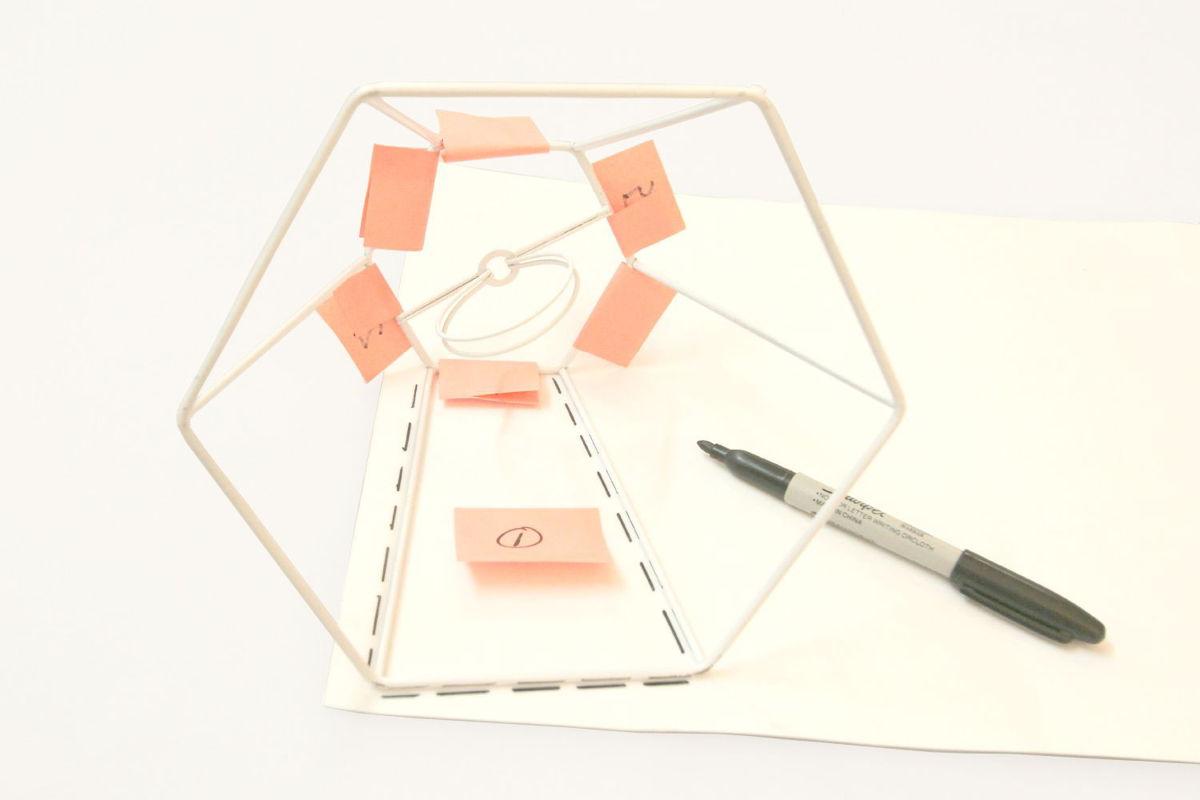 DIY Lampshade Using Adhesive Styrene Sheets - Check out more great DIY lamp tutorials at http://www.ilikethatlamp.com !