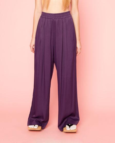 Широкие брюки из вискозы на резинке Violet