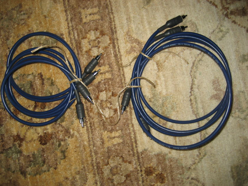 DH Labs Silver Sonic BL-1 Series 2 1M RCA Interconnect Very High Value and Very Good Condition