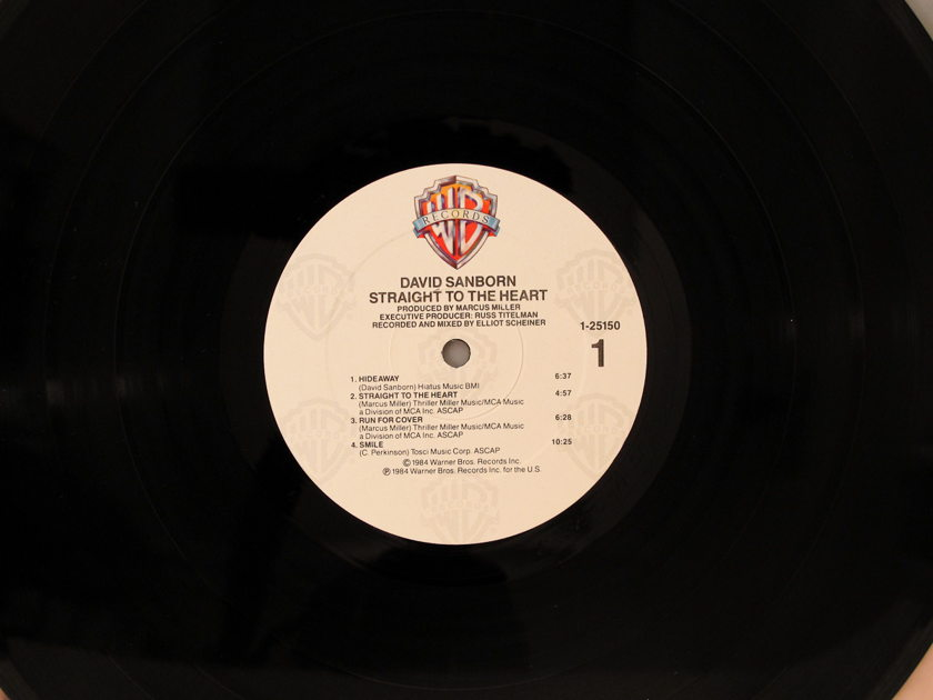 David Sanborn - Straight to the Heart (1984) Excellent Condition