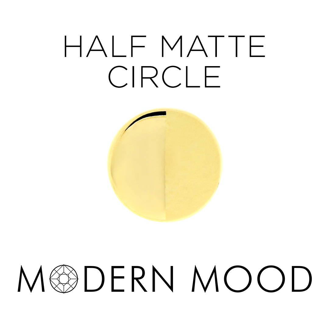 half matte circle piercing jewelry