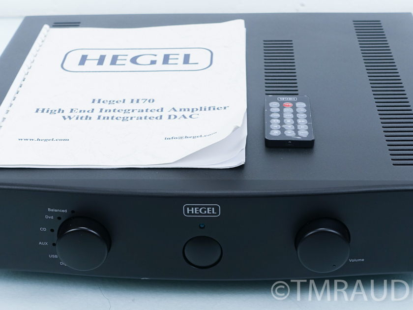 Hegel H70 Integrated Amplifier; USB DAC; Warranty (7220)