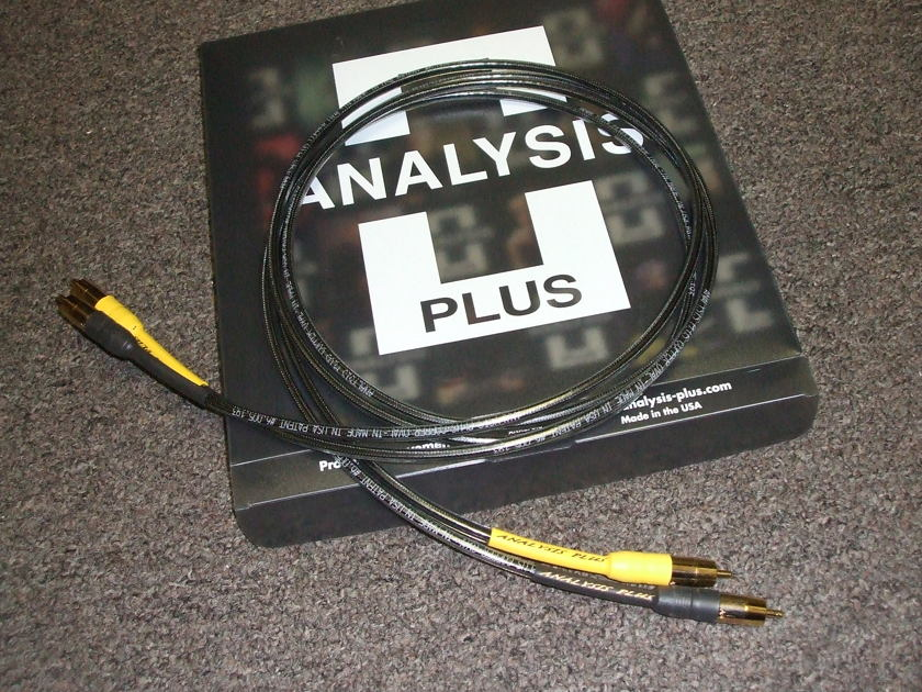 Anaysis Plus Copper Oval-In Micro Interconnects, 1.5 meter RCA