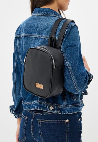 Мини-рюкзак из экокожи черный Anj mini