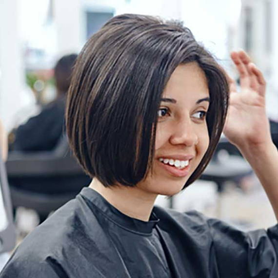 girl with a bob haircut
