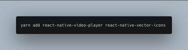 installing react-native-video-player using yarn