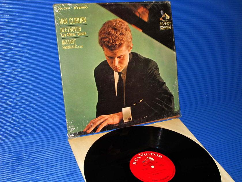 """BEETHOVEN/Cliburn -  - """"Les Adieux Sonata"""" RCA 'White Dog' 1966 2S/2S"""