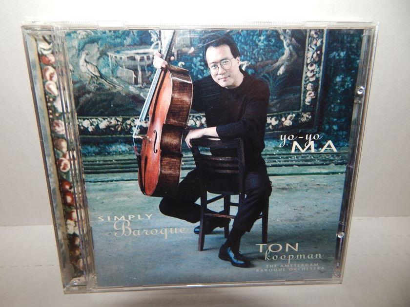 YO-YO MA SIMPLY BAROQUE - Ton Koopman Amersterdam Orch OG 1999 Sony Music CD Mint