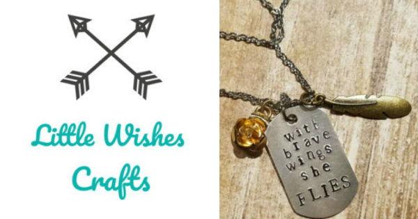 Shop Minnesota Online Bazaar MPLS Little Wishes Crafts Inspirational Handmade jewelry Necklaces Bracelets made in Minnesota