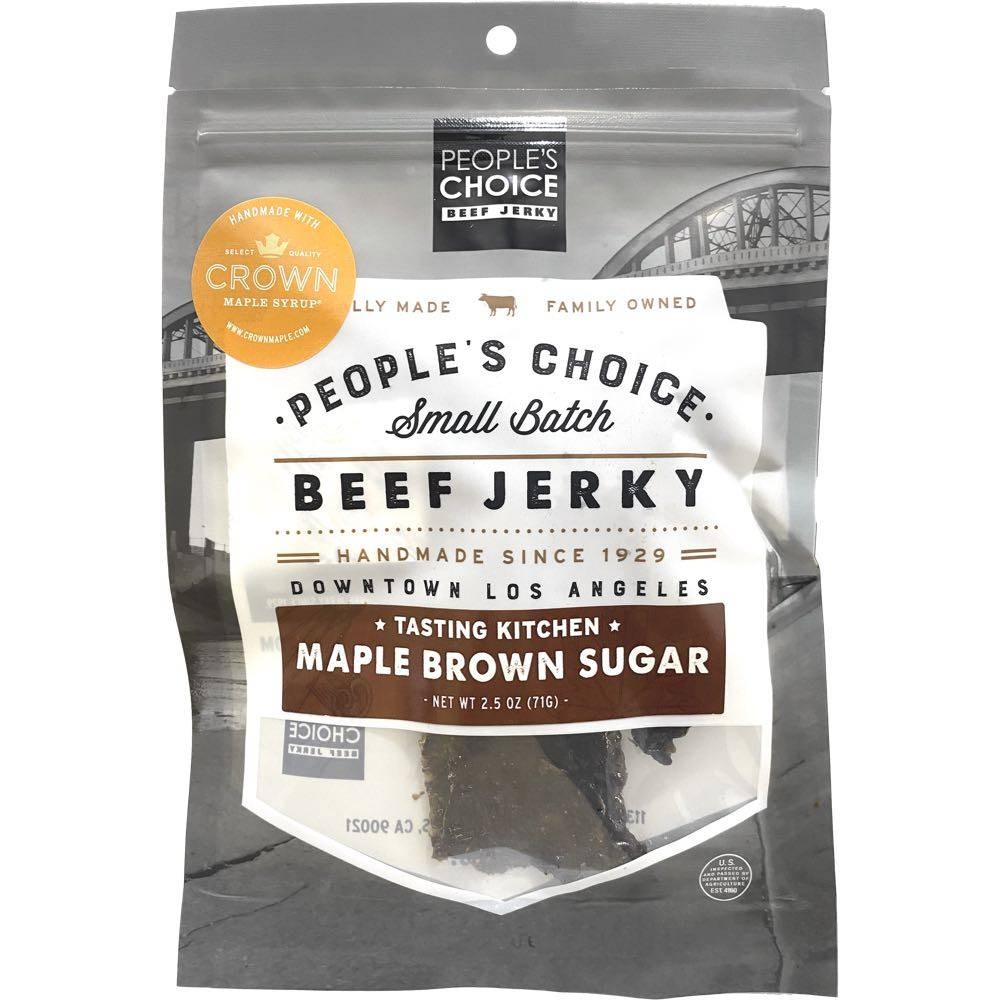 People's Choice Maple Brown Sugar Beef Jerky