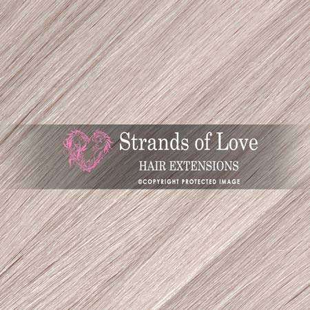 Strands Of Love Hair Extensions Colour Platinum Blonde Ice Grey