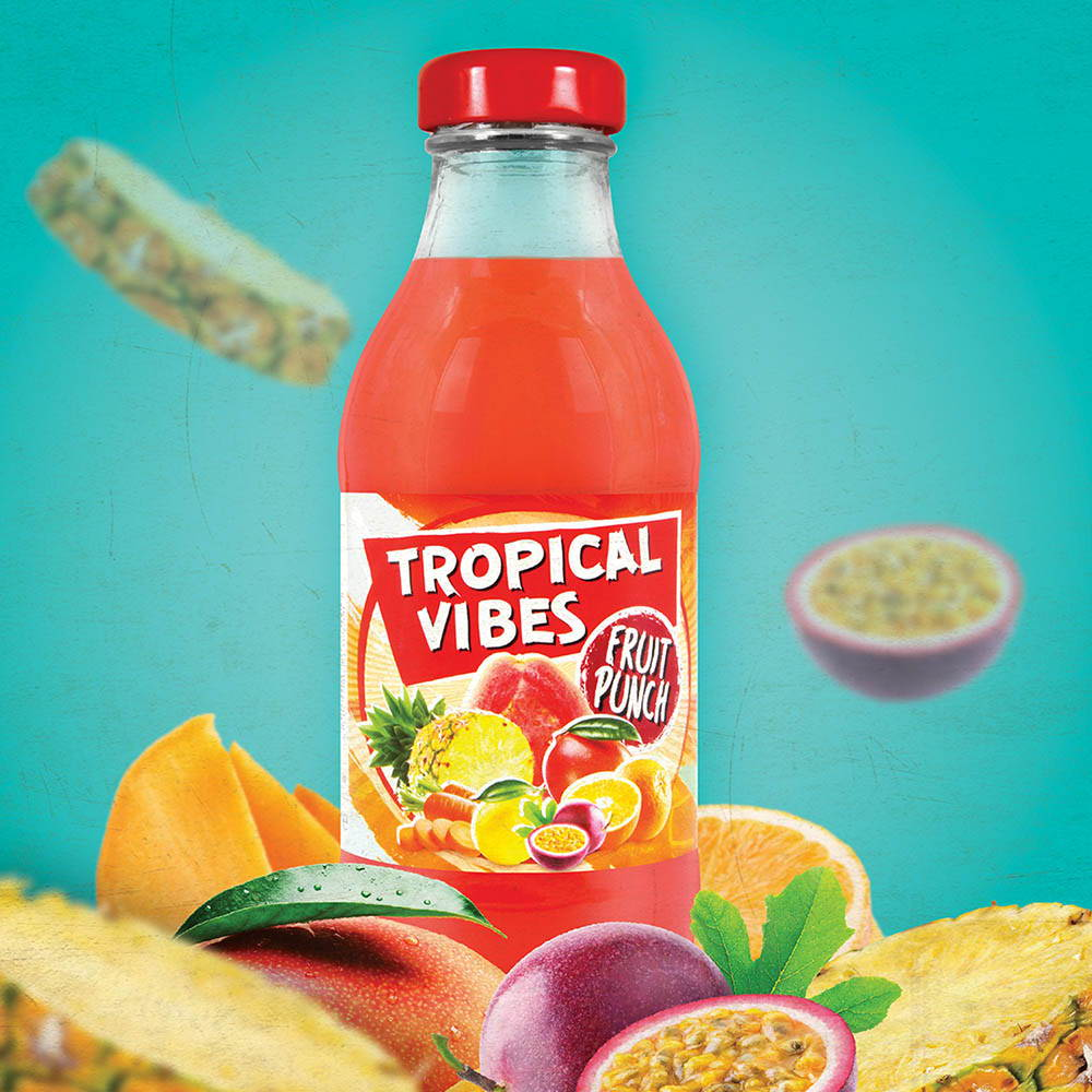tropical vibes fruit punch drink