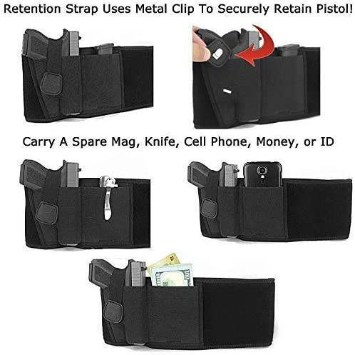female gun holster, belly band holsters for women, women's concealed carry clothes