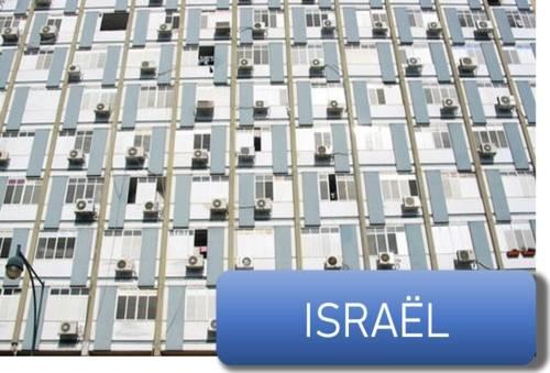 des climatiseurs sur un immeuble en Israel