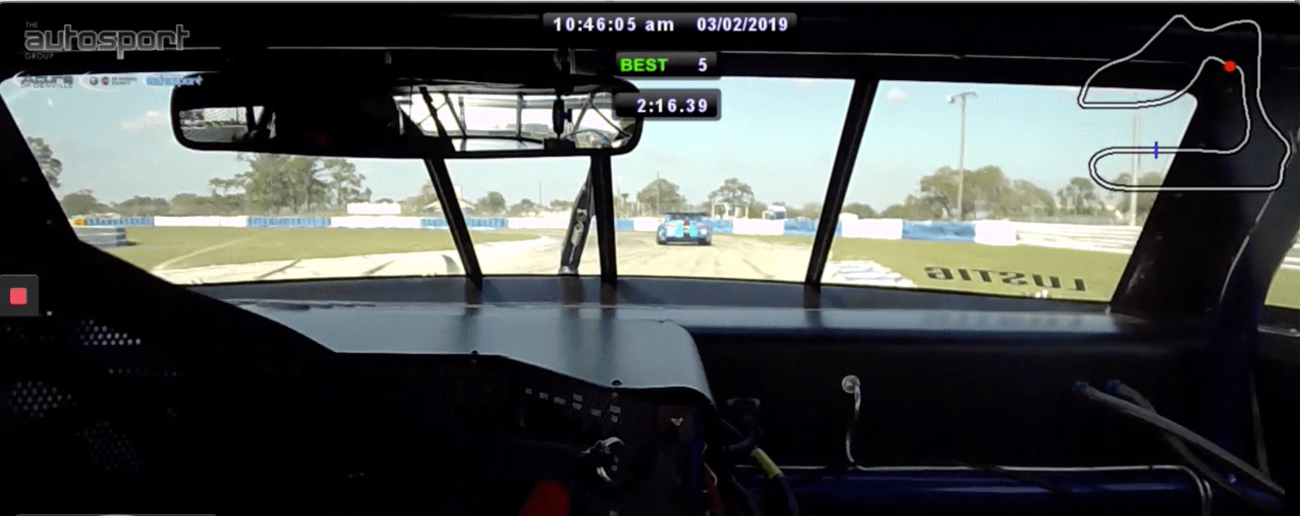 braking zone into turn 5 at Sebring International Raceway
