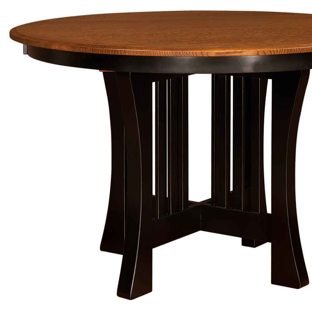 Two Tone Arts & Crafts Bar Table Black Paint and Michales Cherry on Quarter Sawn White Oak