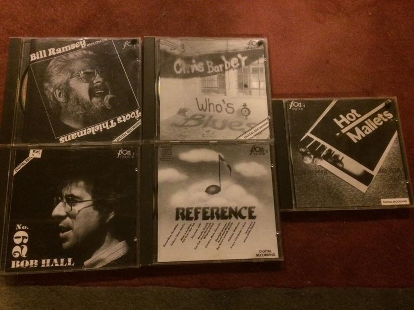 JETON AUDIOPHILE CD'S - Chris Barber/Reference/Hot Mallets/Bob Hall/Bill R LOT OF 5 CDS