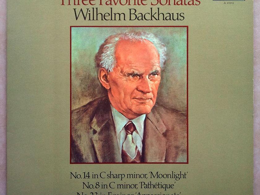 London ffrr/Backhaus/Beethoven - Three Favorite Sonatas Moonlight, Pathetique, Appassionata / NM