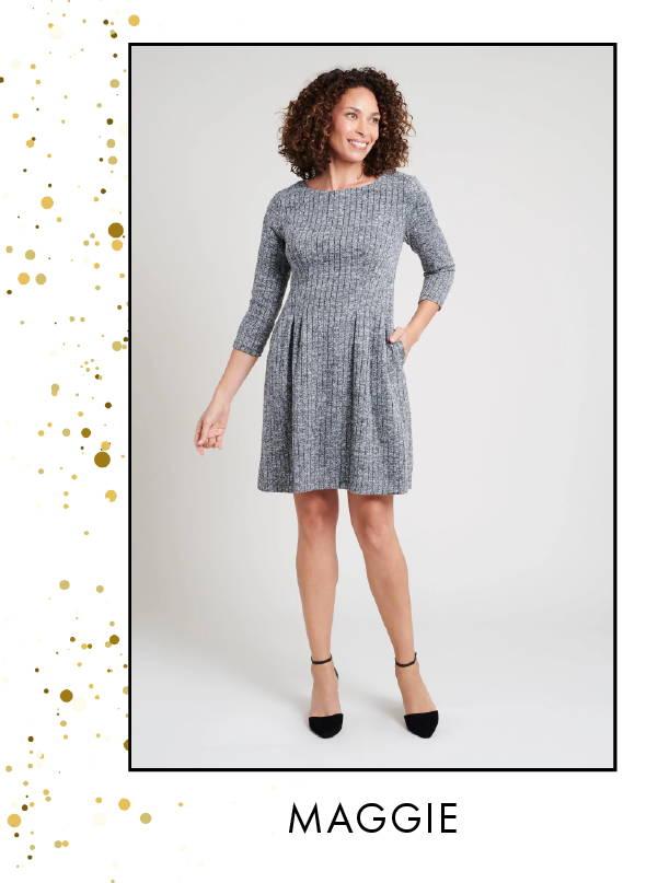 Shop Nora Plaid Elbow Sleeve Dress >