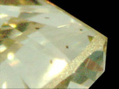 carbone spots in diamonds
