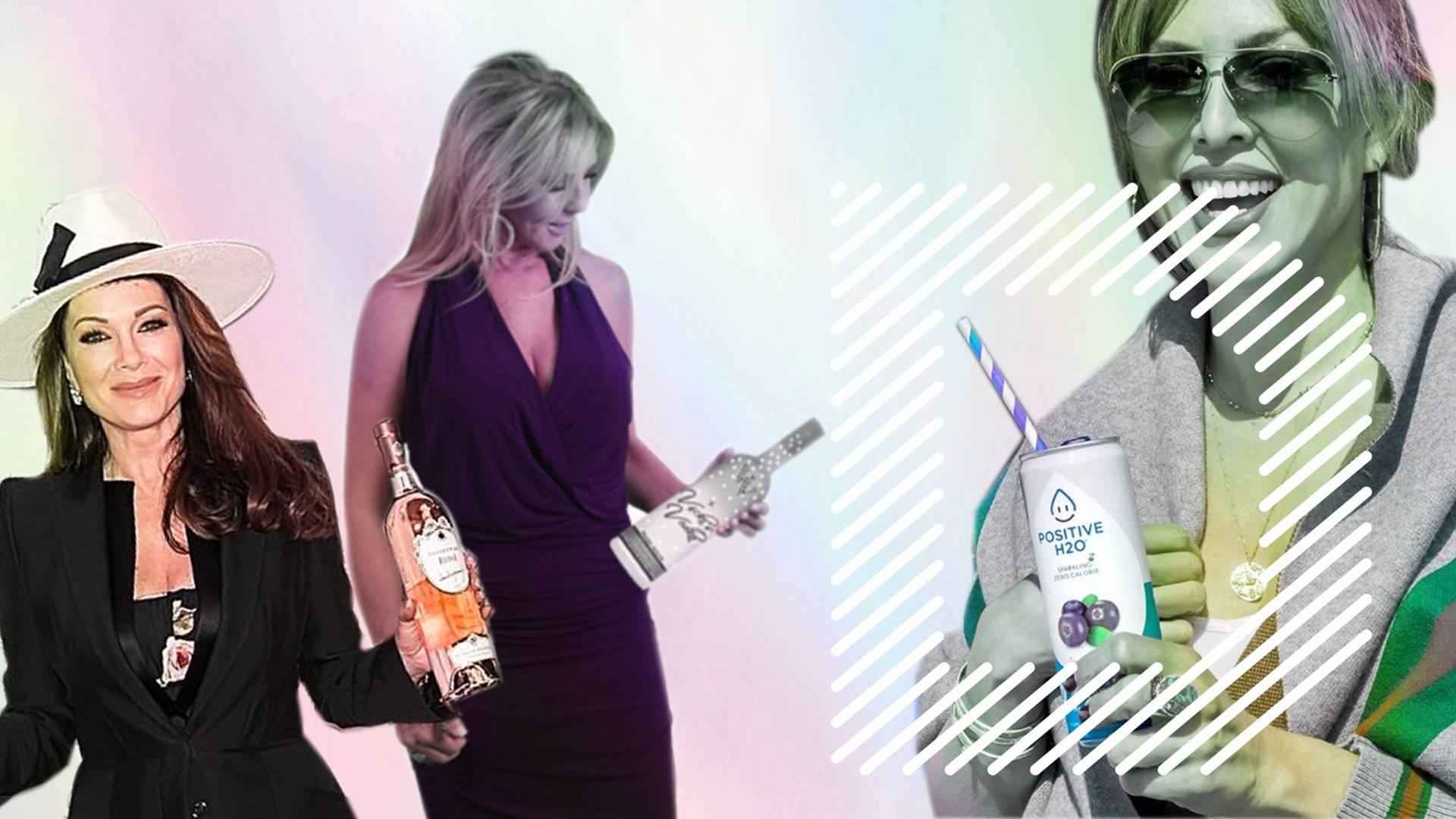 How We Really Feel About The Real Housewives Beverage Ventures Dieline
