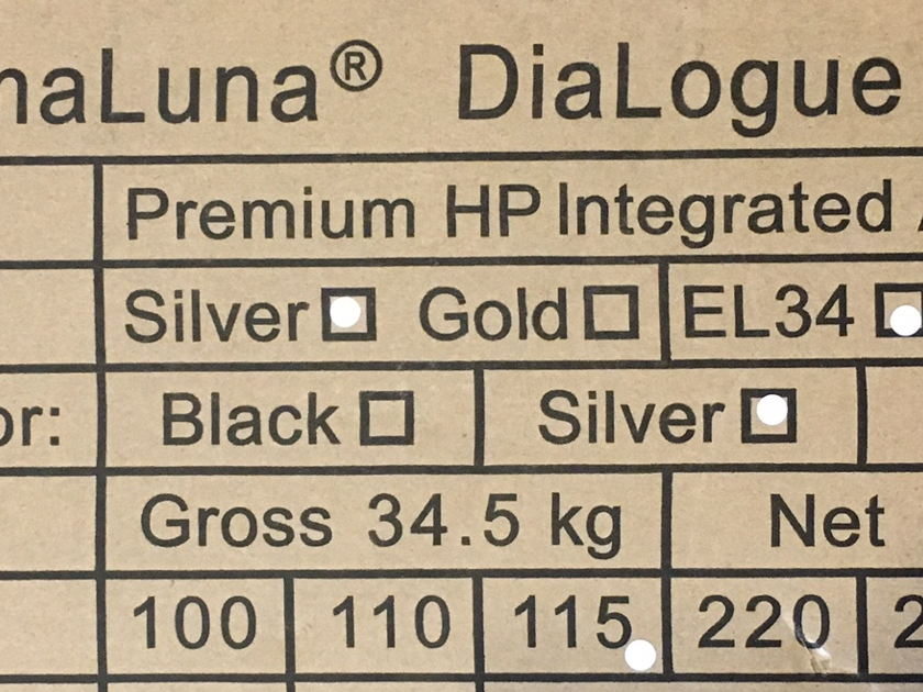 PrimaLuna Dialogue Premiem HP Inegrated Amplifier -Silver  **Clearance**