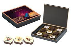 Indian Wedding Return Gift Ideas - 9 Chocolate Box - Alternate Printed Candies (10 Boxes)
