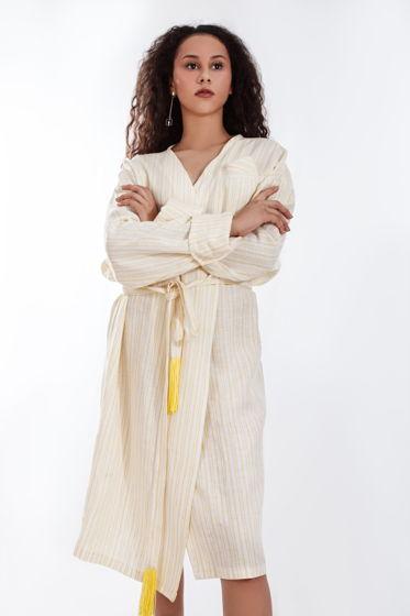 Платье халат с поясом