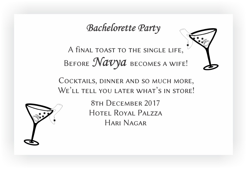 Bachelorette Party Invitation Wordings – CHOCOCRAFT
