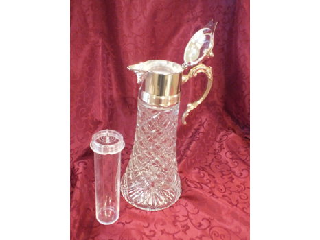 Silver and Crystal Wine Decanter (Vintage)