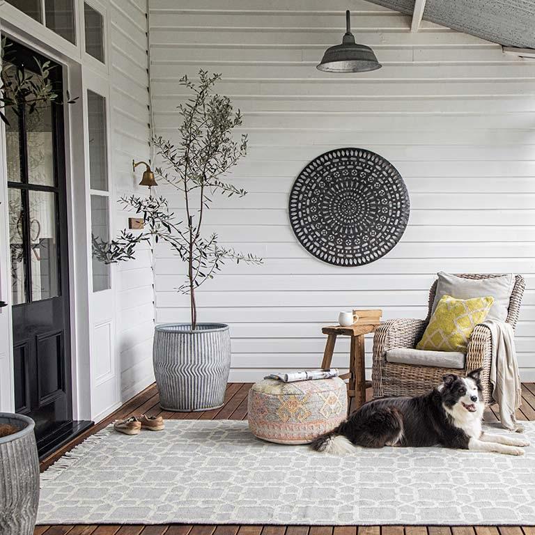 kasbah smoke outdoor rug