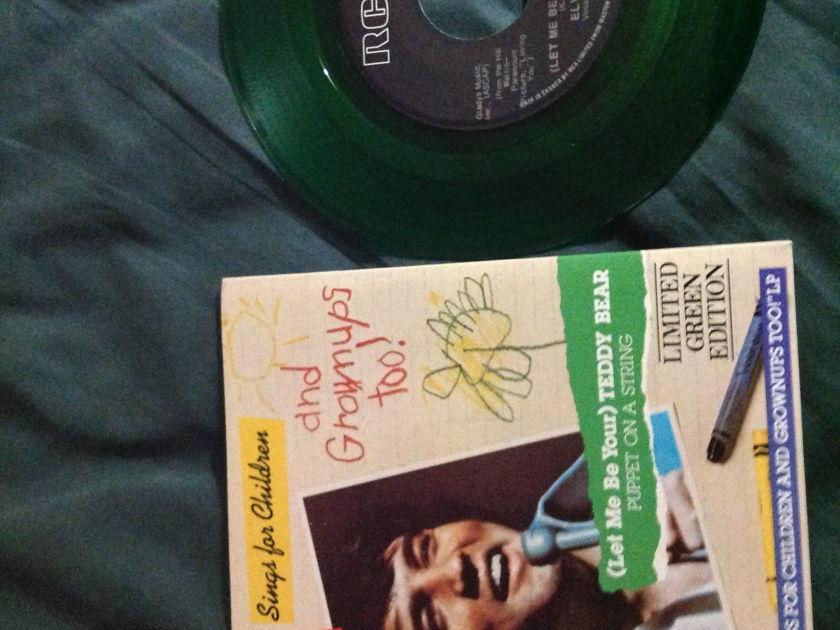 Elvis Presley - Teddy Bear Green Vinyl 45 RCA Limited Edition NM