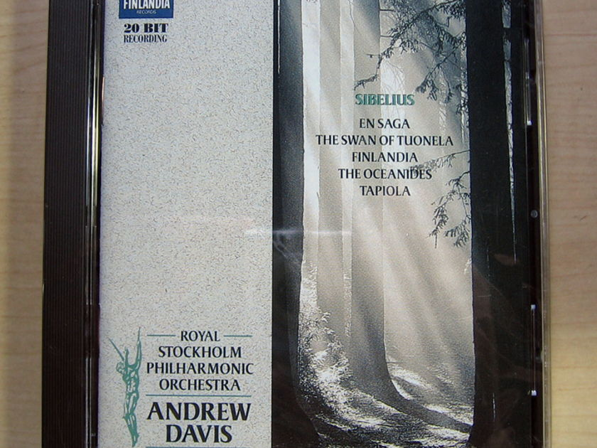 RSPO, Andrew Davis - Sibelius; En Saga / The Swan of Tuonela..... - Factory Sealed New CD 1997 Finlandia Records 0630-15242-2