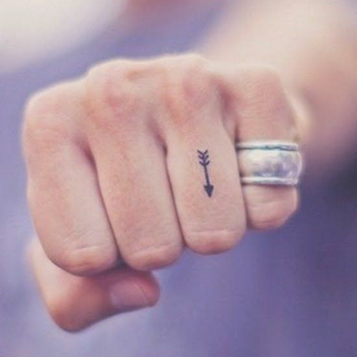 arrow finger tattoo