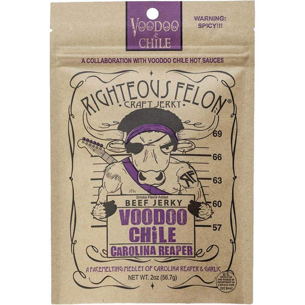 Righteous Felon VooDoo Chile Carolina Reaper Beef Jerky