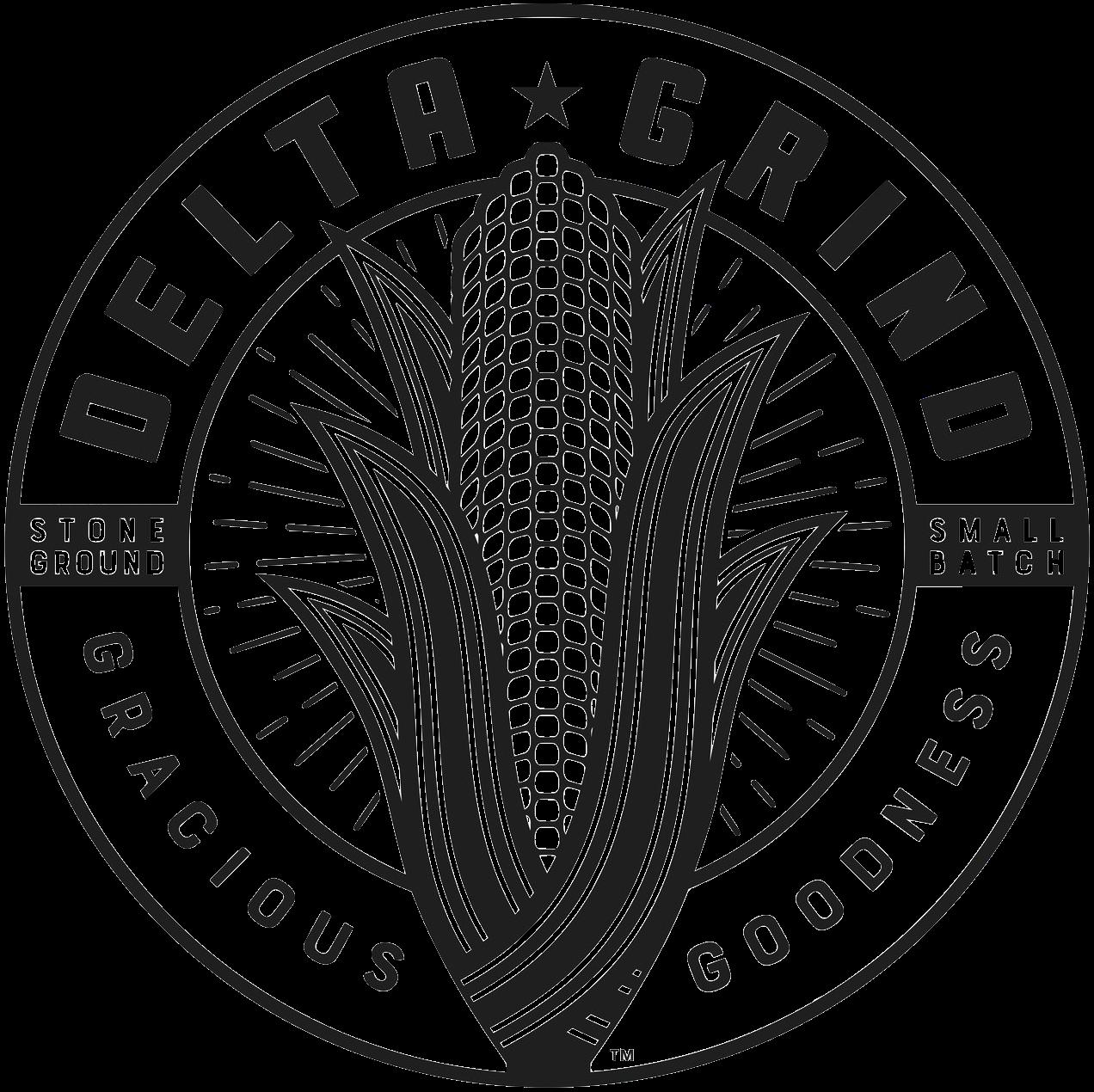 Delta grind logo b&w