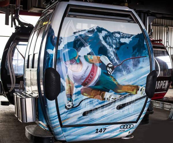 Exterior Vinyl Wrap - Ski Lift