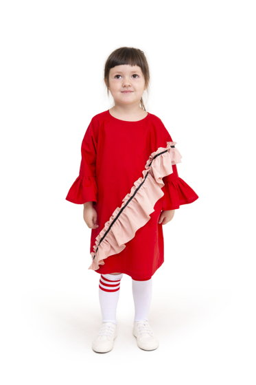 Платье Poppy алое