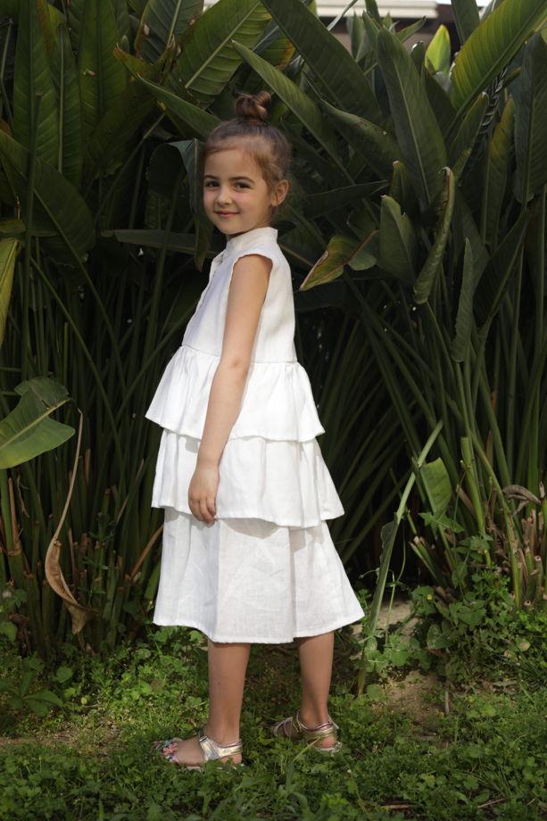 Льняное платье Nicole цвет белый