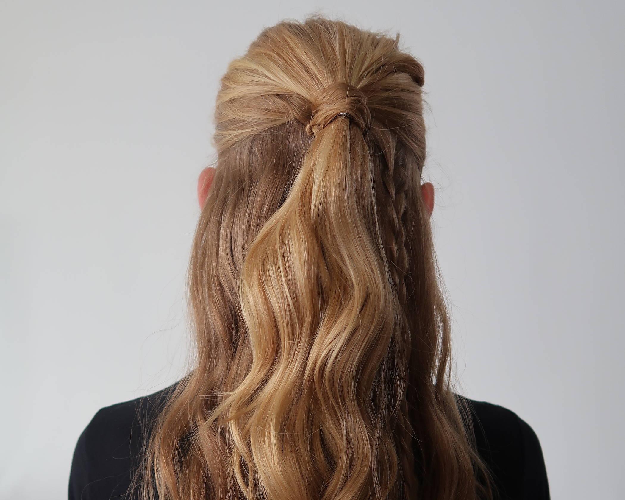 Half up half down hair tutorial Davines