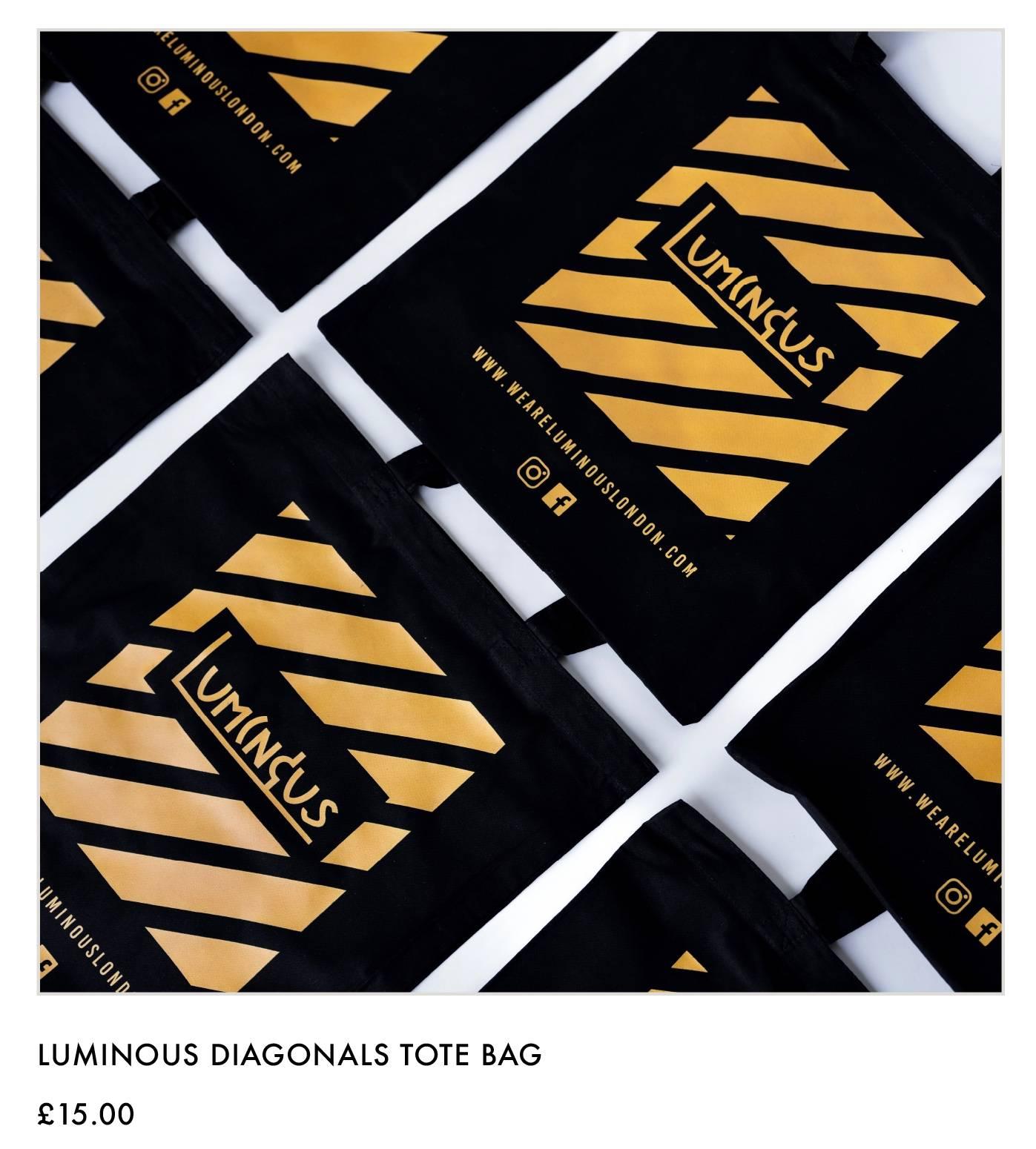 Luminous Diagonals Tote Bag